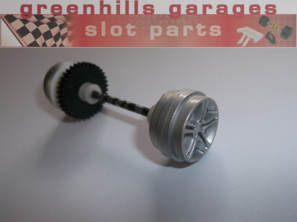 Used P4230 Greenhills Scalextric Scaletti Arrows Rear Axle /& Wheels Yellow